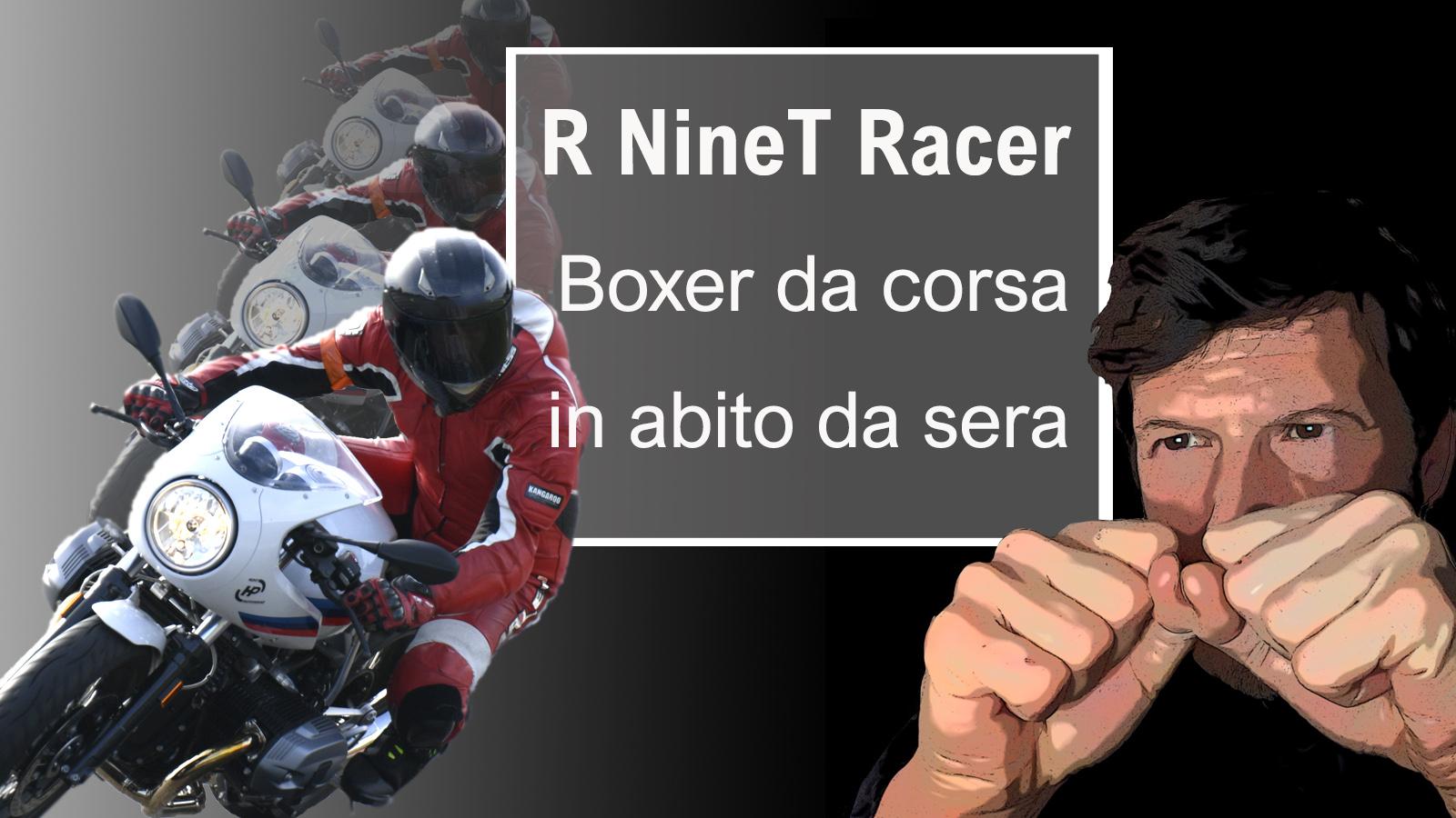 R NineT Racer Boxer da corsa in abito da sera cover