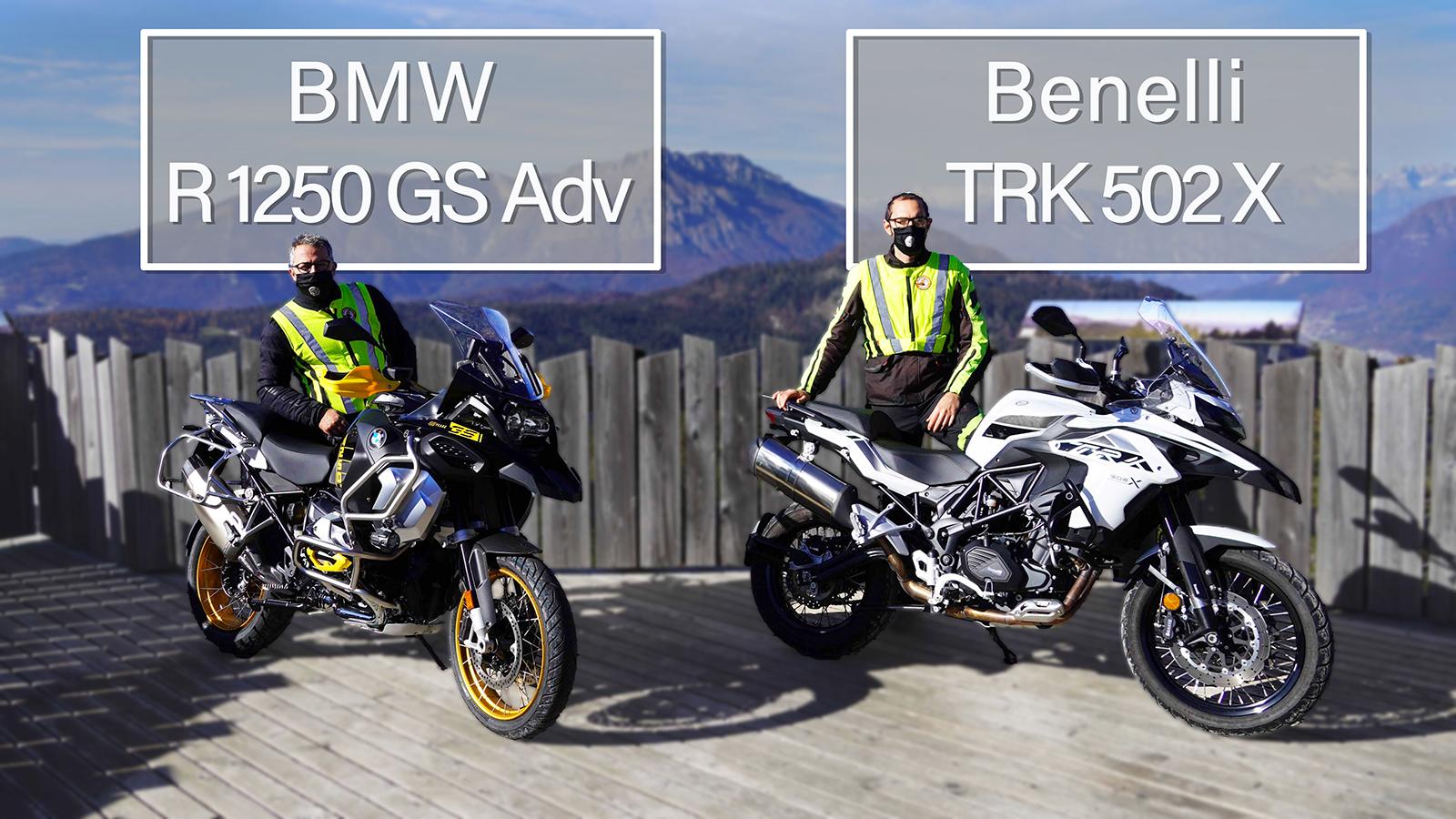 BMW R1250GS Adv Benelli TRK 502 X