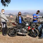 Stefano-Sabrina-Roberto-Fabio-Triumph-Trident 660